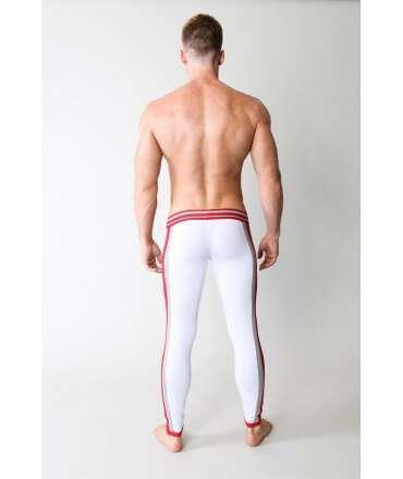 Cueca Comprida Timoteo Varsity Relay Pant Branco/Cinzento/Vermelho,125025