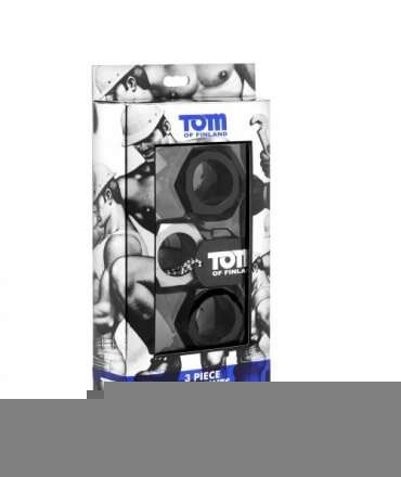 Set of 3 Rings for Penis Tom of Finland Hex Nut 135352