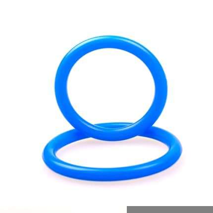 Cockring Dual Ring Silicone Azul,130080