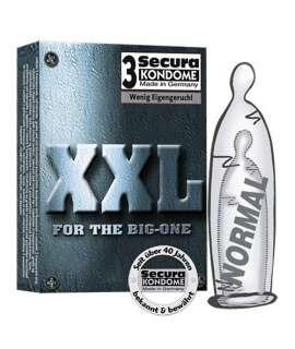 3 x Preservativos XXL, Tamanho Grande , Secura Kondome , welcomelover, sex-shop, sex-shop-online, sexshop
