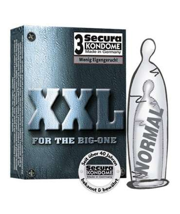 3 x Preservativos XXL,319004