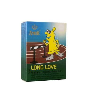 3 x Preservativos Amor Long Love,324001