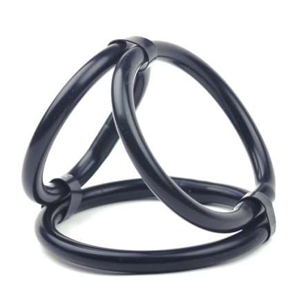 Cockring Triple Cock Cage Black 130084