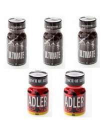 Pack 3 + 2, kits and boxes of Poppers , , mister cock, sexshop, sexhop gay, sexshop online
