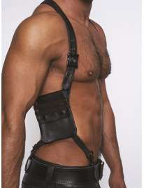 Harness Black with Wallet, Mister B Black Leather 132018