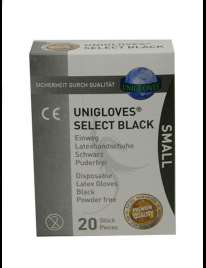 20 x Disposable Gloves Black 339030