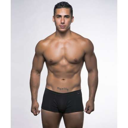 Pack 2 Boxers Andrew Christian Basix Tagless Boy Azul Marinho Cinzento 600062 Andrew Christian Boxers