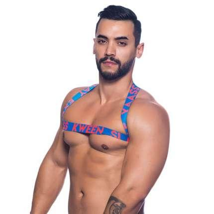 Harness Andrew Christian Slay Azul 600086