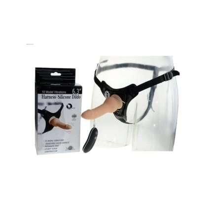 Harness with Dildo Vibrator Aphrodisia