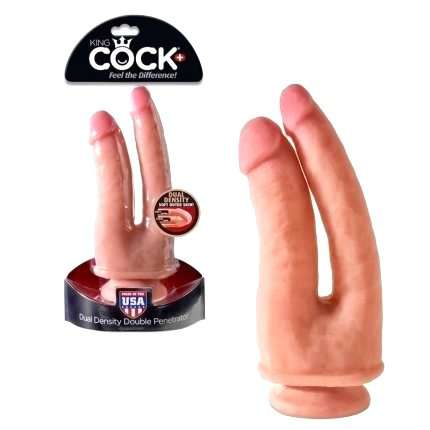 Double Dildo Realistic King Cock + Dual Density, Double Penetrate, King Cock