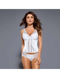 Bodice and Thong Etheria Obsessive White 161067