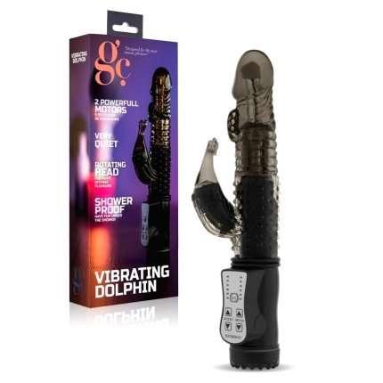 Vibrator Vibrating Dolphin Black 22 cm 210077