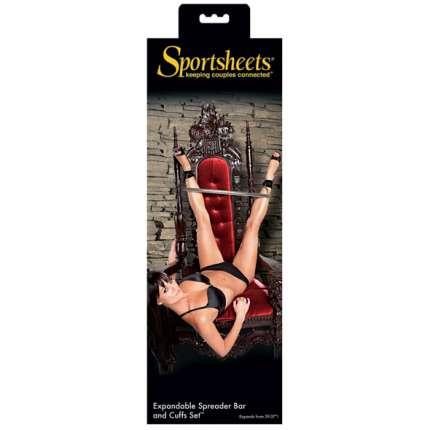 Bar set Afastadora and Cuffs Sportsheets 332039
