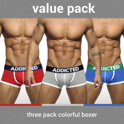 Pack 3 Boxers Addicted Basic 5003639