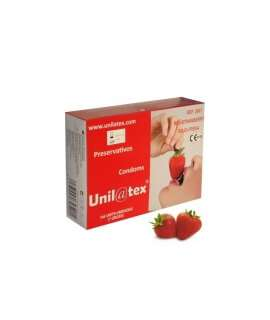 Box of 144 Condoms Unilatex Strawberry UNI144R