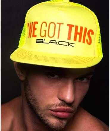 Boné Andrew Christian We Got This Black,600052