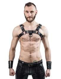 Harness de Couro Mister B Sela Preto,111781