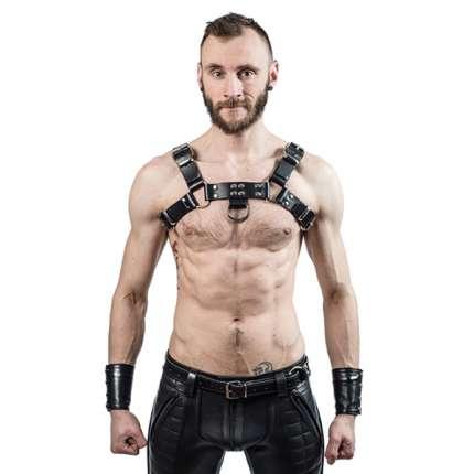 Harness de Couro Mister B Sela Preto 111781