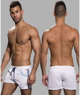 Shorts Andrew Christian Sports Mesh Swim White 600050