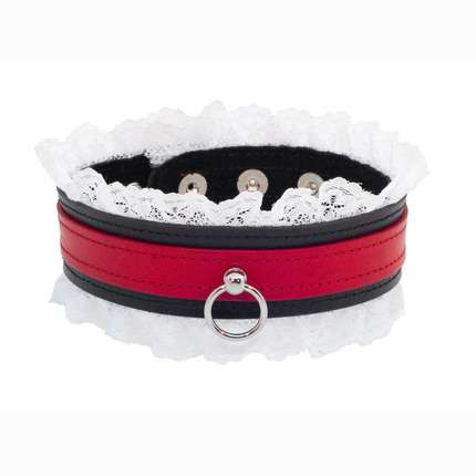 The collar of the Skin to be Red with White Lace 3343821