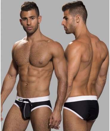 Sunga Andrew Christian Swift Preto/Branco,600040