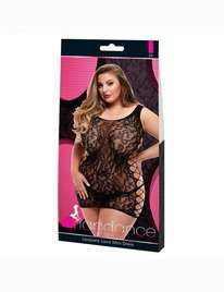 Mini-Dress, a King-Size bed Lapdance Lace Leopard, Black Pink,1974180