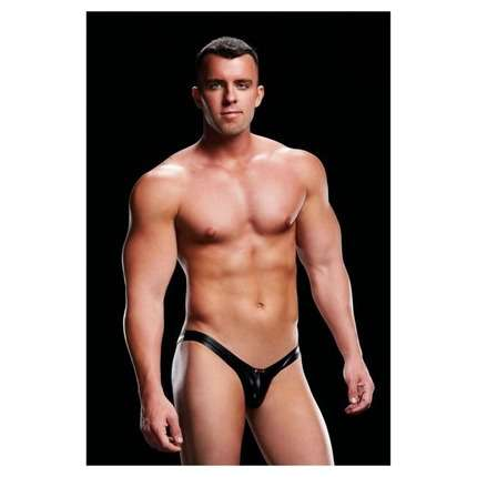 envy wet look open back low rise brief w rise brief black s m 1264213