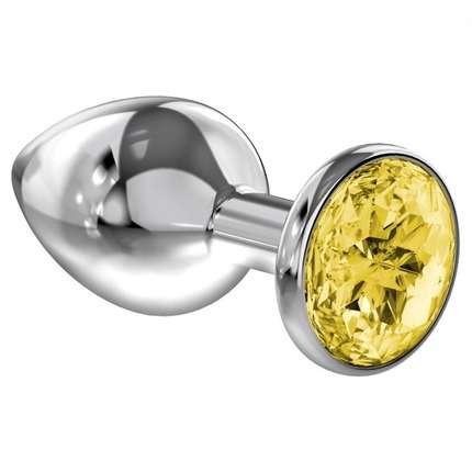 Plug Lola com Diamante 28 mm Rosa, Amarelo ou Vermelho,2404213