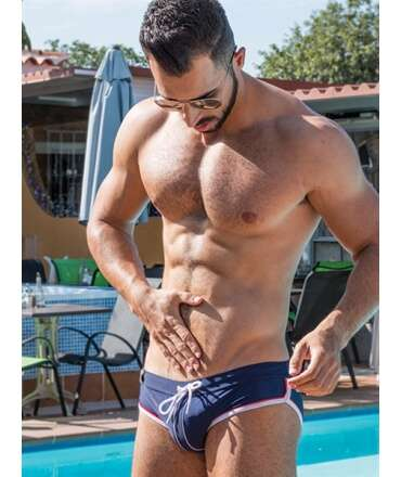 Sunga Mister B URBAN Long Beach Swim Azul,ADS02617