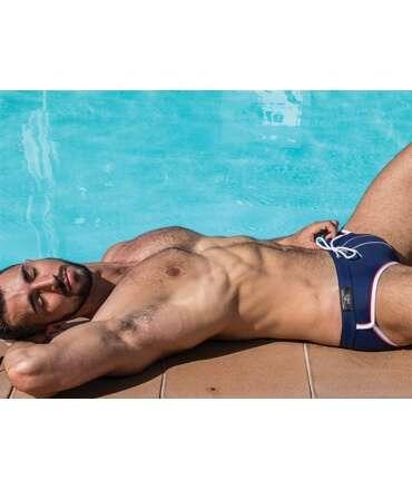 Sunga Mister B URBAN Long Beach Swim Azul,ADS02617