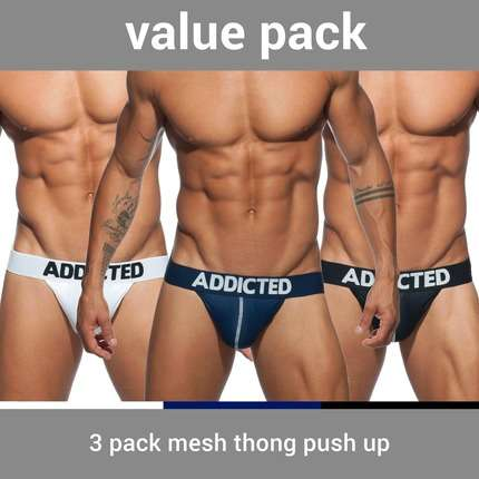 Tangas Addicted Pack 3 Unidades Mesh Push Up,5004307