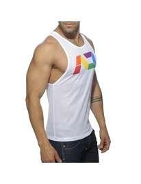 The Sleeve To The Armhole Addicted Rainbow Tank Top 5004304