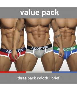 Briefs Addicted Basic Brief Three Pack 500028