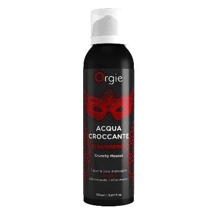 Espuma para Massagem Orgie Acqua Croccante Morango 150 ml,3534507