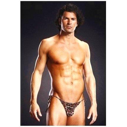 Cuecas Tipo Bikini Leopardo com Transparência,1254539