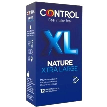 12 x Condoms, Control, XL, Nature,3204572