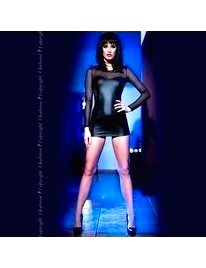 The Mini-Dress with Black Fur, and Transparency,1974593