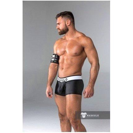 Boxers Maskulo com Frente Destacável Preta,1244643