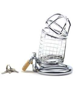 Cage Chastity Male in the Form of a Network with Padlock 143001