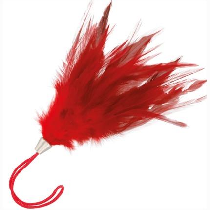Espanador de Plumas Curto Vermelho,3364933