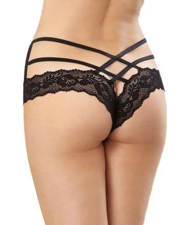 Briefs Stretch Lace with Ribbons Cross 176014