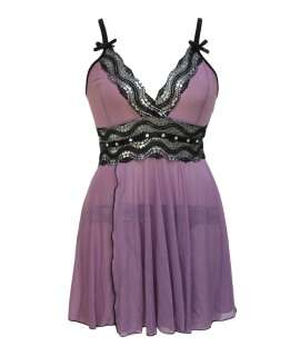 Babydoll Purple with Lace Metal 0670011506