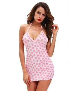 Camisa com Corações Rosa Sem Costas,160011