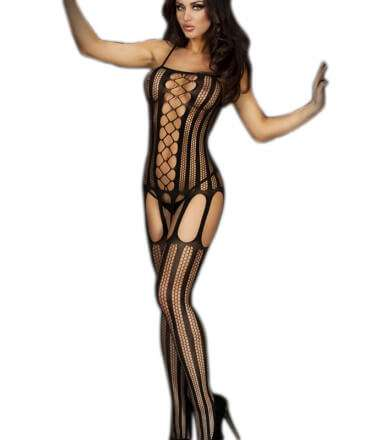 Catsuit with Lists and Network 0860180500