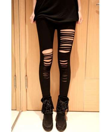 Socks with Rips Style Legging 0910030500