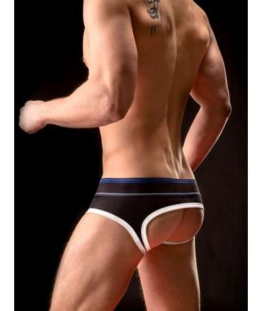 Jockstrap BARCODE Backless Brief Gustavo Preto Branco Azul, Jockstrap, Barcode Berlin , welcomelover, sex shop, sexshop,Barco...