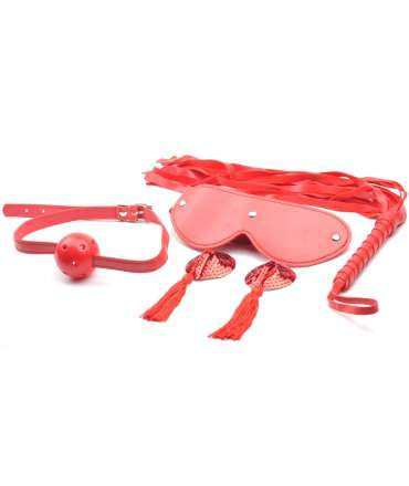 Kit BDSM 4 Pieces Red 1320531000