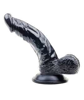 Dildo Being Black with the Testicles 16.5 cm 0190530500
