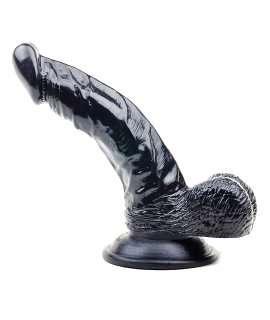 Dildo Being Preto com Testículos 16,5 cm, Dildos Realísticos, ,mister-cock, sexshop, sex-shop-gay, sex-shop online, sex-shop