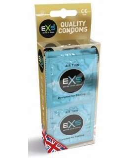12 x Preservativos EXS Air Thin 920670 EXS Extra Finos
